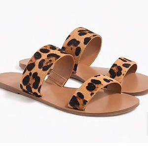 J.Crew Leopard Summer Slide Sandals❤️